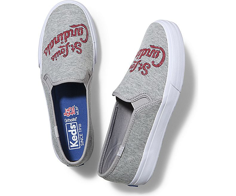 Women's Keds Double Decker MLB Slip-On Shoes - St. Louis Cardinals