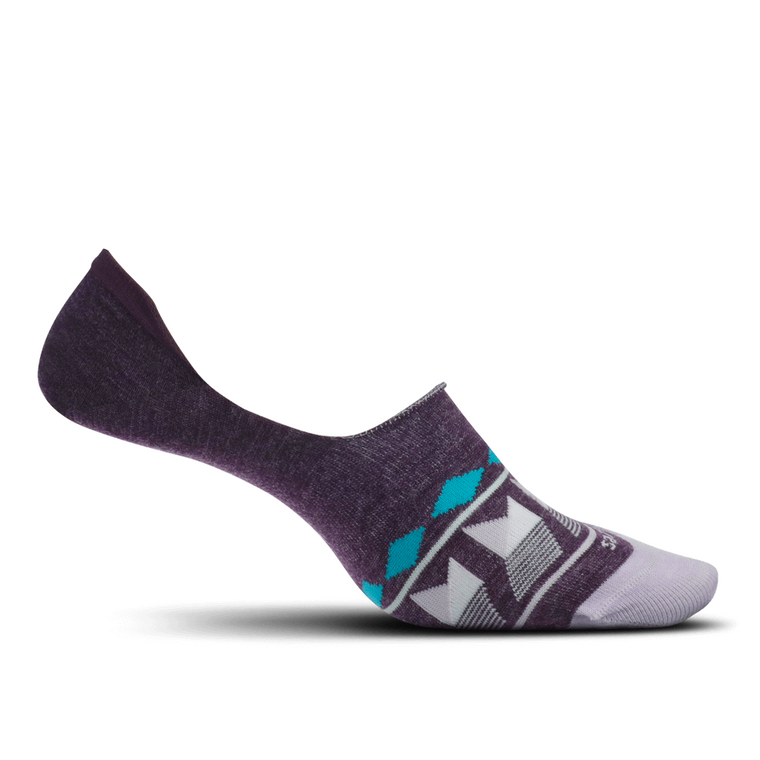 Feetures Women's Hidden Patchwork Socks - Mauve