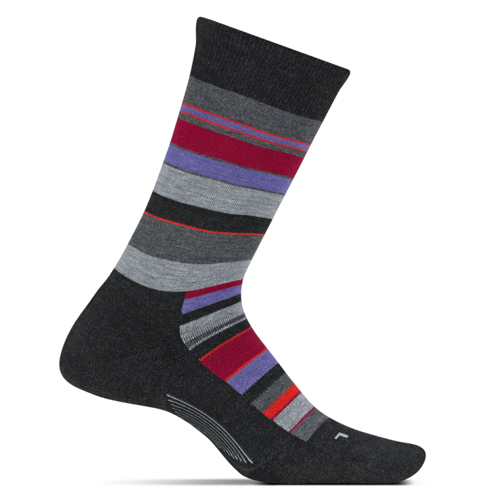 Feetures Women's Be Bold Cushion Crew Socks - Charcoal