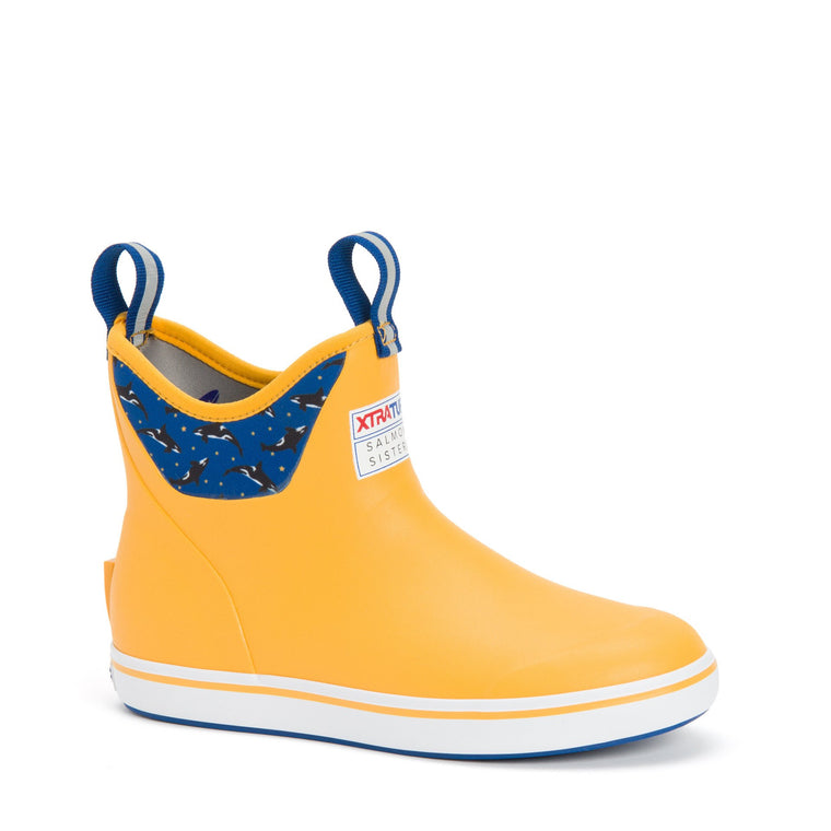 XTRATUF Women's Salmon Sisters 6 In Ankle Deck Boot - Yellow