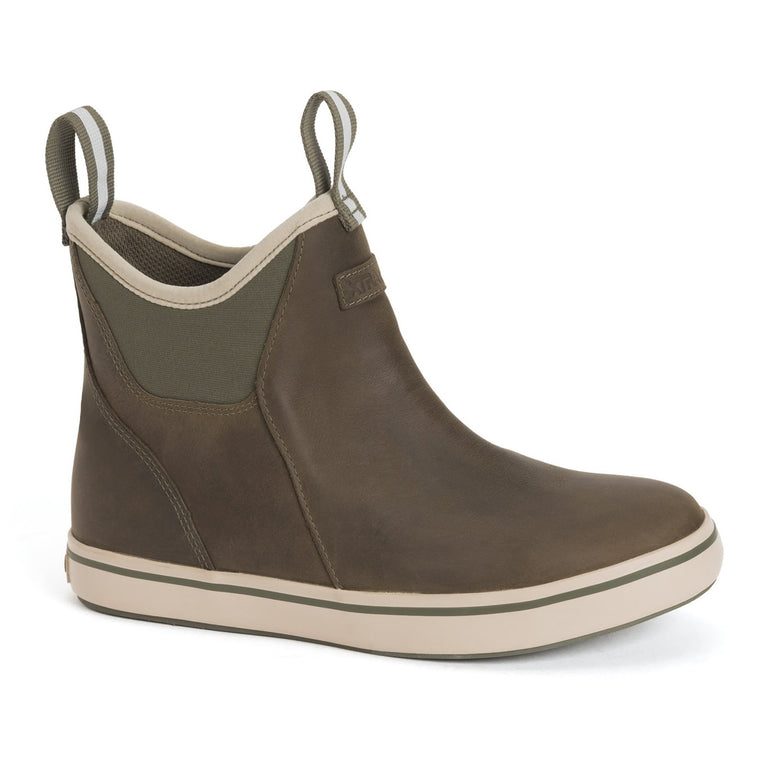 Women's XTRATUF Leather 6 In Ankle Deck Boot - Olive