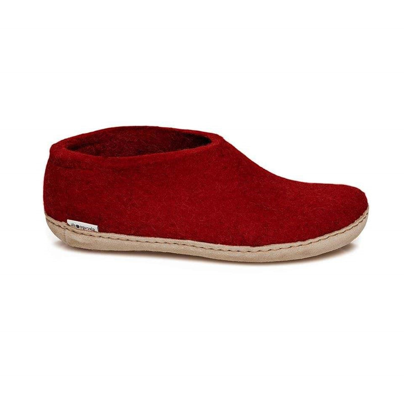 Glerups Model A Shoe Slippers - Red