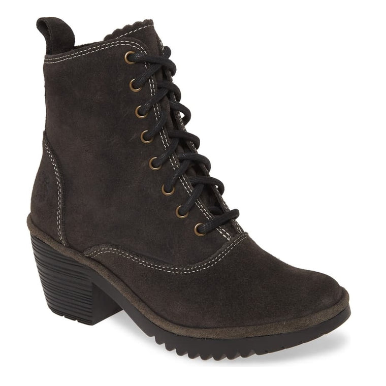 Women's Fly London Wune Lace-Up Bootie - Diesel Oil Suede