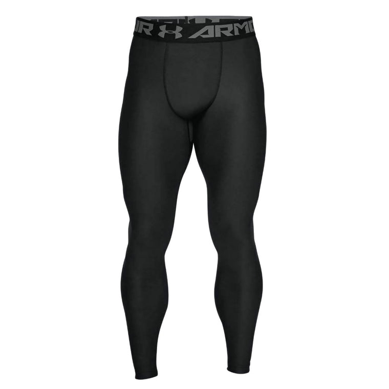 Men's Under Armour HeatGear Armour Leggings - Black/Graphite