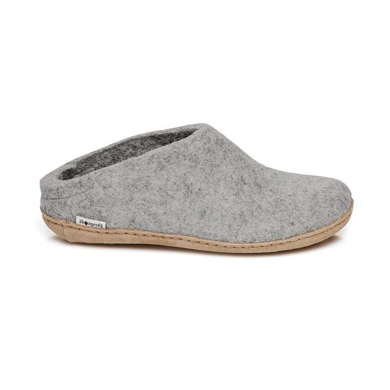 Glerups Model B Open Heel Slippers - Grey