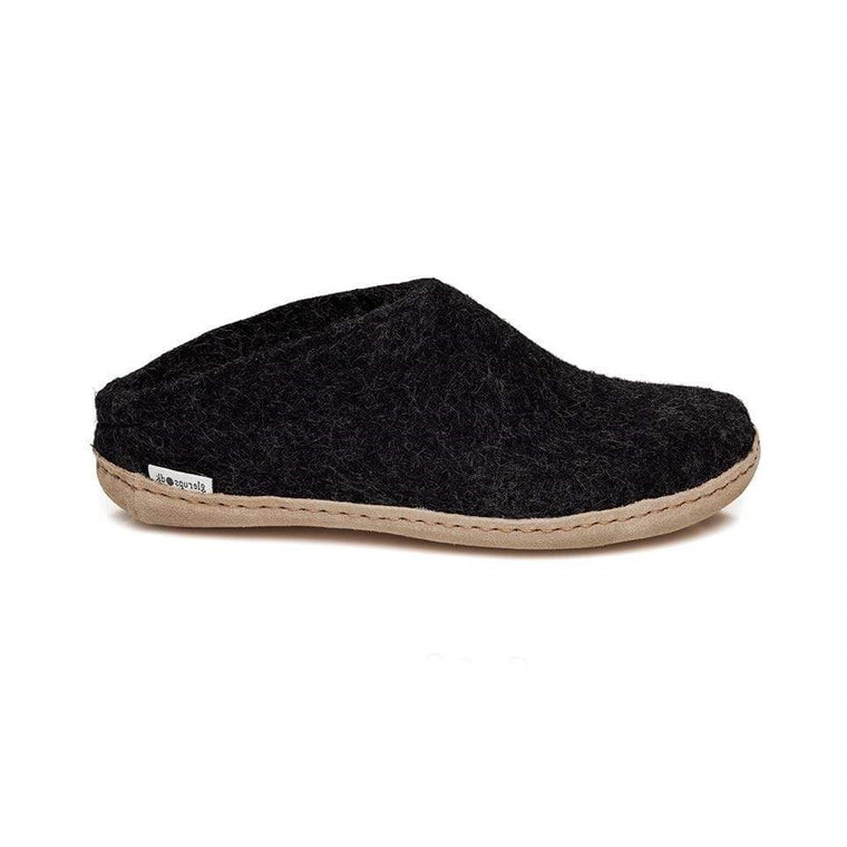 Glerups Model B Open Heel Slippers - Charcoal