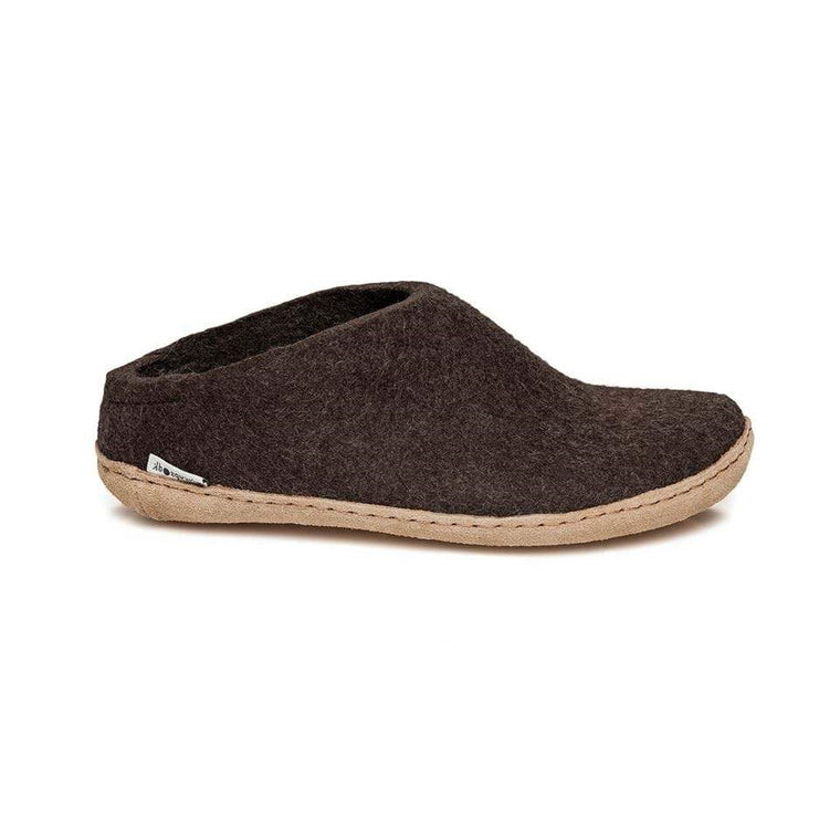 Glerups Model B Open Heel Slippers - Nature Brown