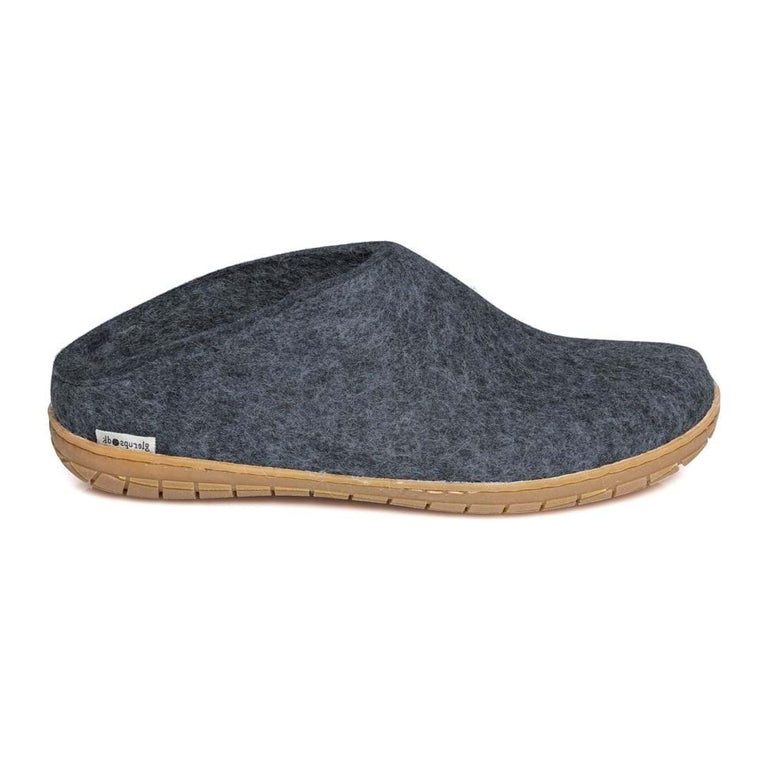 Glerups Open Heel with Rubber Sole Slipper - Denim
