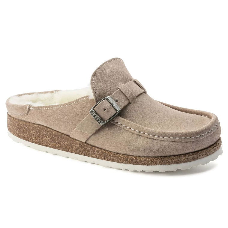 Women's Birkenstock Buckley Shearling Suede - Nude