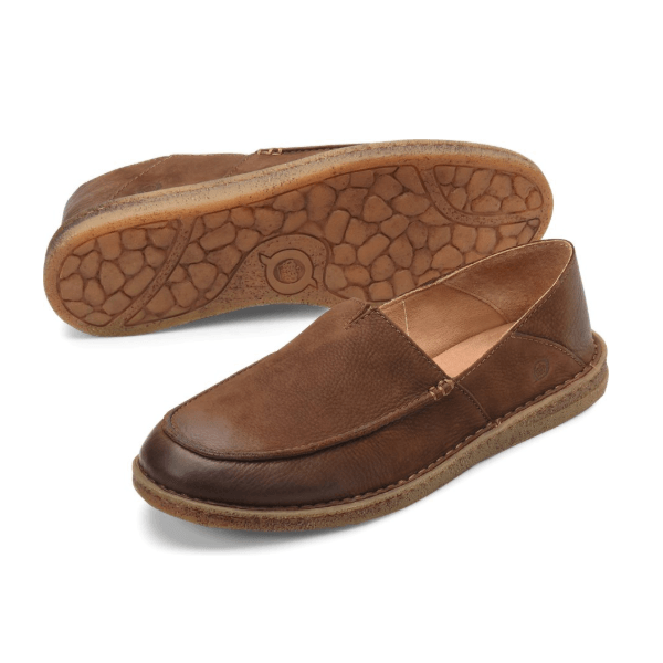 Born Men's Stewie II Slip-On Moc - Carafe (Brown)
