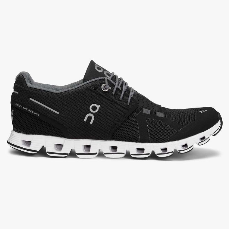 On Women's Cloud Running Shoes - Black/White