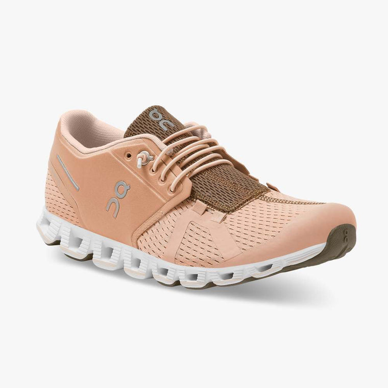 On Women's Cloud Running Shoes - Rosebrown/Camo