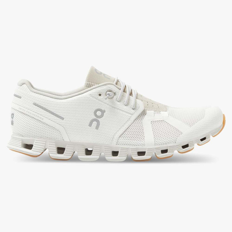 On Women's Cloud Running Shoes - White/Sand
