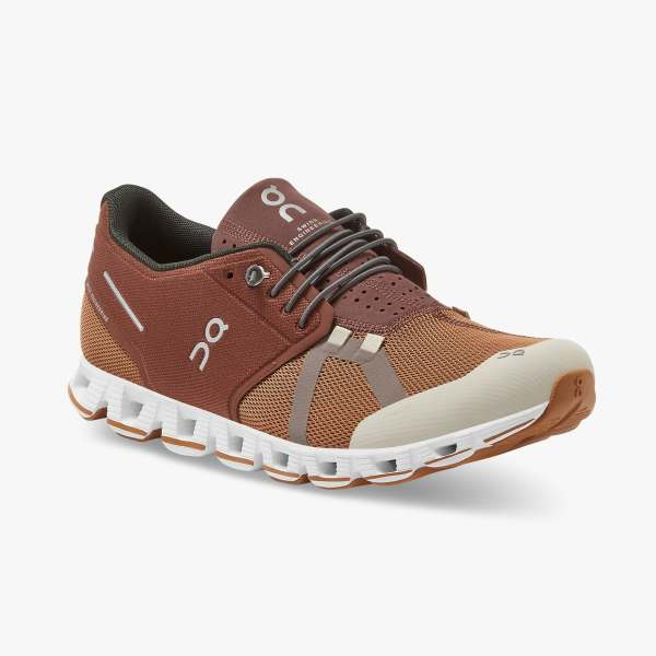 On Men's Cloud 70/30 Running Shoes - Brick/Pecan