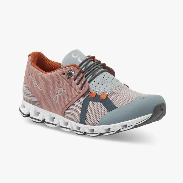On Women's Cloud 70/30 Running Shoes - Dustrose/Quartz