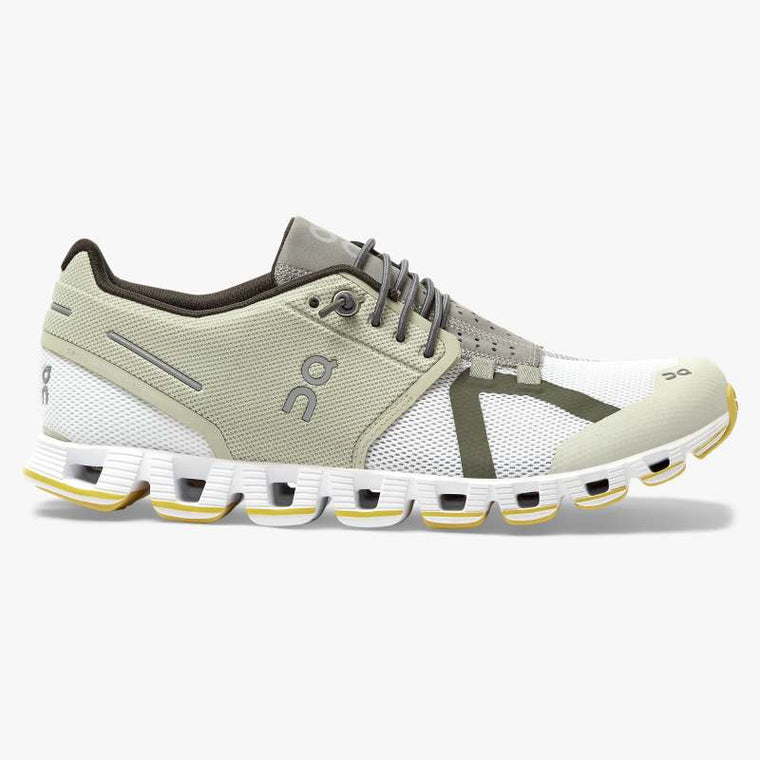 On Women's Cloud 70 | 30 Running Shoes - Hay/White