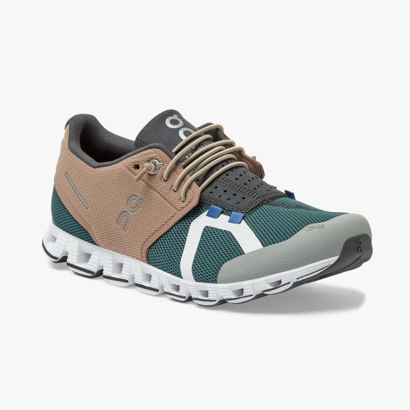 On Women's Cloud 70 | 30 Running Shoes - Mocha/Evergreen