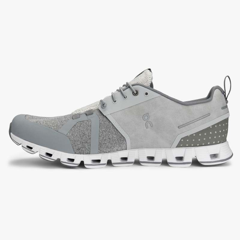 On Men's Cloud Terry Active Shoes - Silver