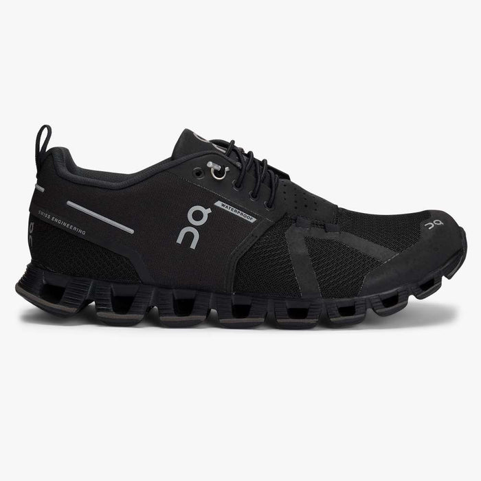 On Women's Cloud Waterproof Running Shoes - Black/Lunar