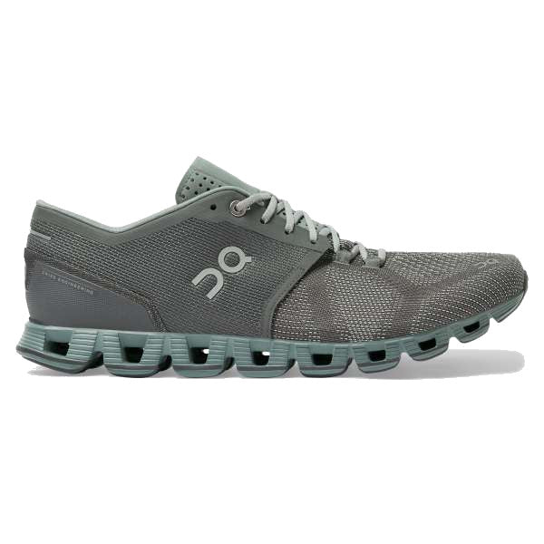 On Men's Cloud X Running Shoes - Rock/Sea