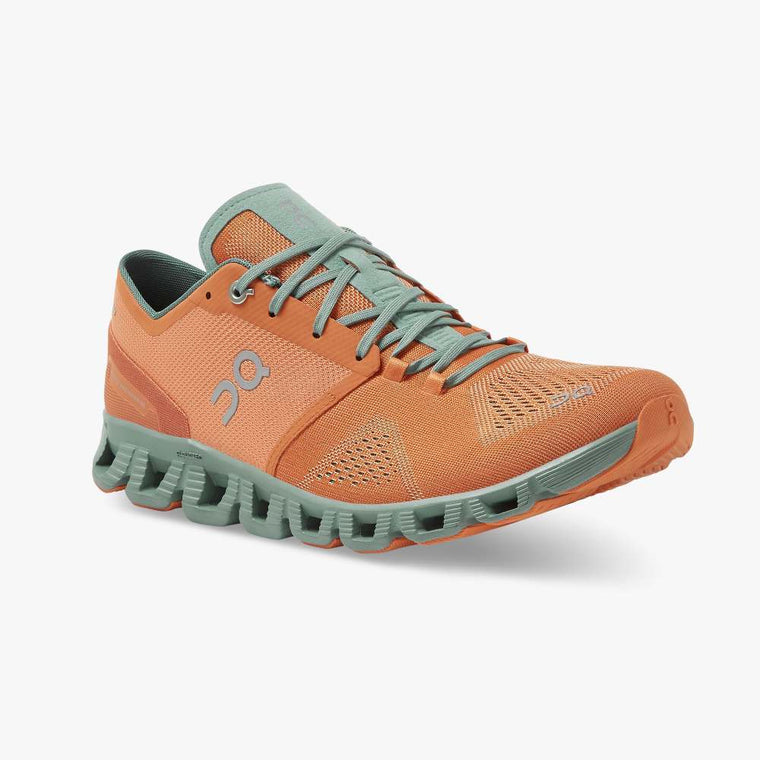 On Men's Cloud X Training Shoes - Orange/Sea