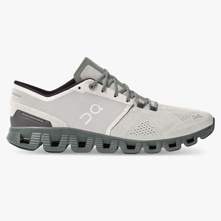 On Men's Cloud X Training Shoes - Glacier/Olive