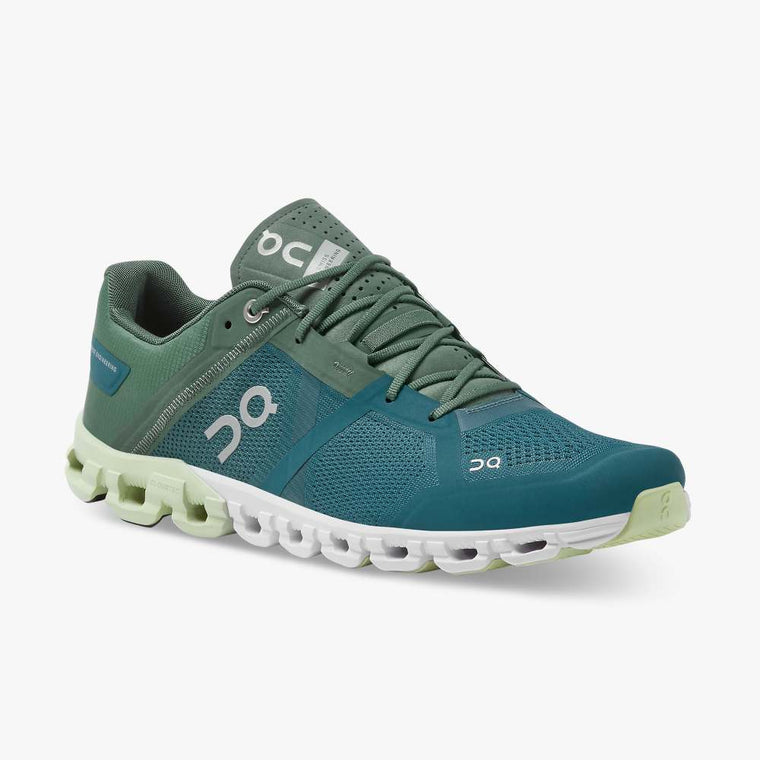 On Men's Cloudflow Running Shoes - Sea/Petrol