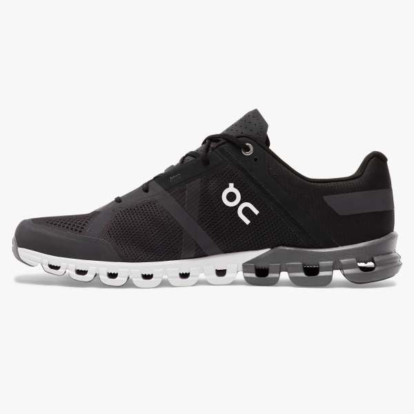 On Men's Cloudflow Running Shoes - Black/Asphalt