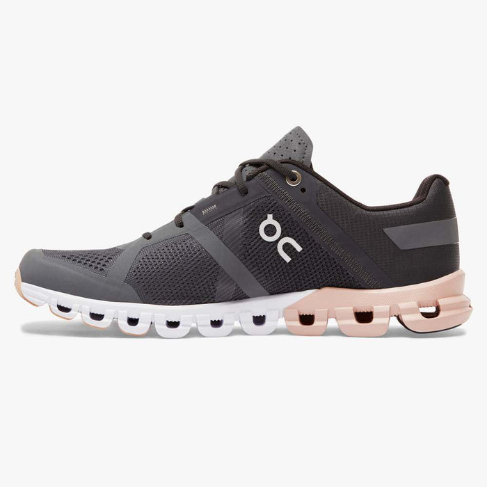 On Women's Cloudflow Running Shoes - Rock/Rose