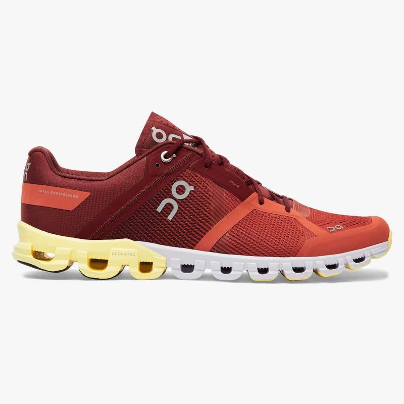 On Men's Cloudflow Running Shoes - Rust/Limelight