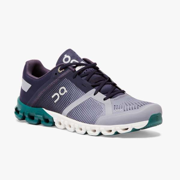 On Women's Cloudflow Running Shoes - Violet/Tide