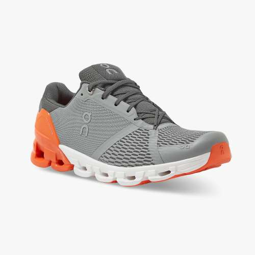 On Men's Cloudflyer Running Shoes - Grey/Orange