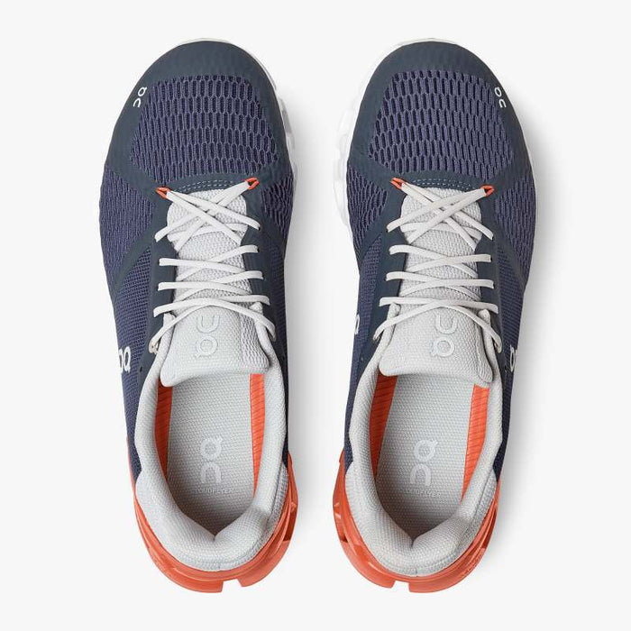 On Men's Cloudflyer Running Shoes - Midnight/Rust