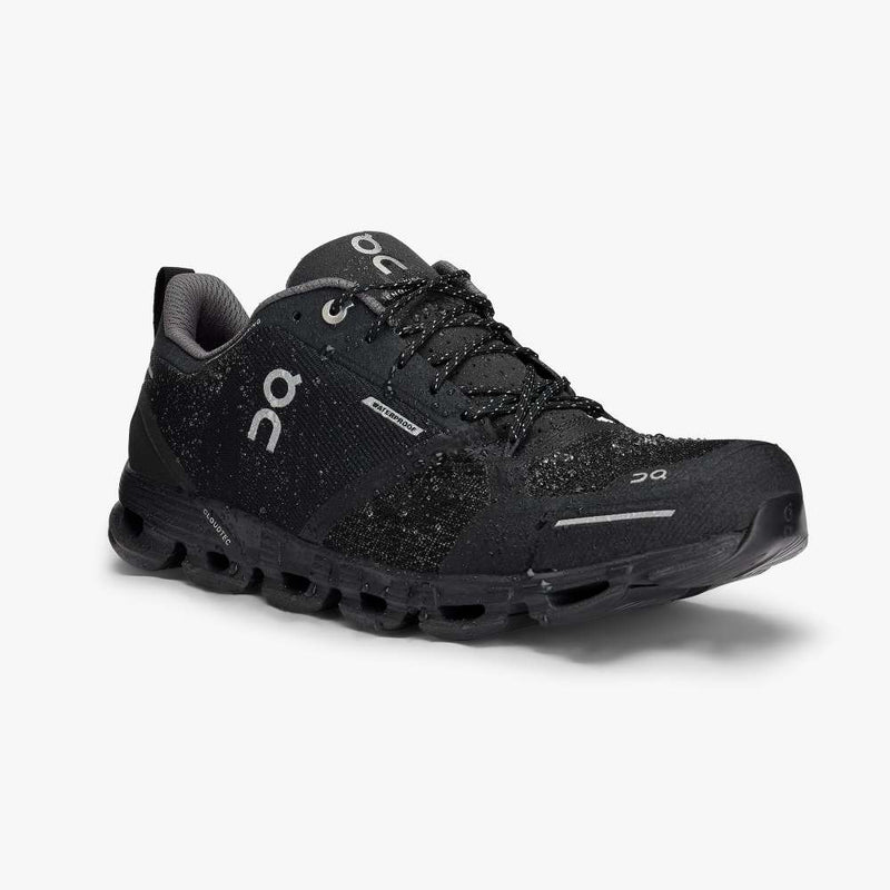 Women's On Cloudflyer Waterproof Running Shoes - Black/Lunar