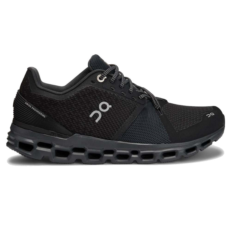 Women's On Cloudstratus Running Shoes - Black/Shadow