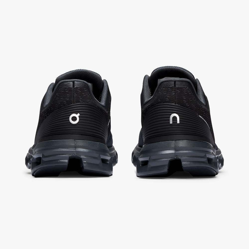 On Women's Cloudstratus Running Shoes - Black/Shadow
