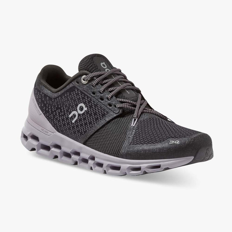 On Women's Cloudstratus Running Shoes - Black/Lilac
