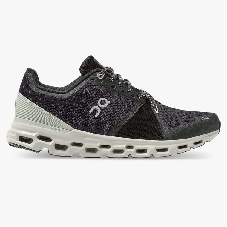 On Men's Cloudstratus Running Shoes - Black/Mineral