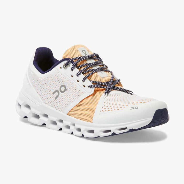 On Women's Cloudstratus Running Shoes - White/Almond