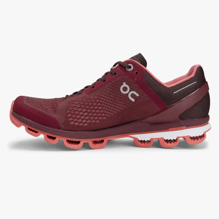 Women's On Cloudsurfer Running Shoes - Mulberry/Coral