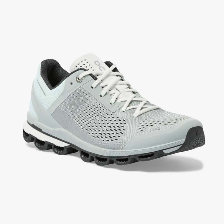 On Women's Cloudsurfer Running Shoes - Glacier/Black