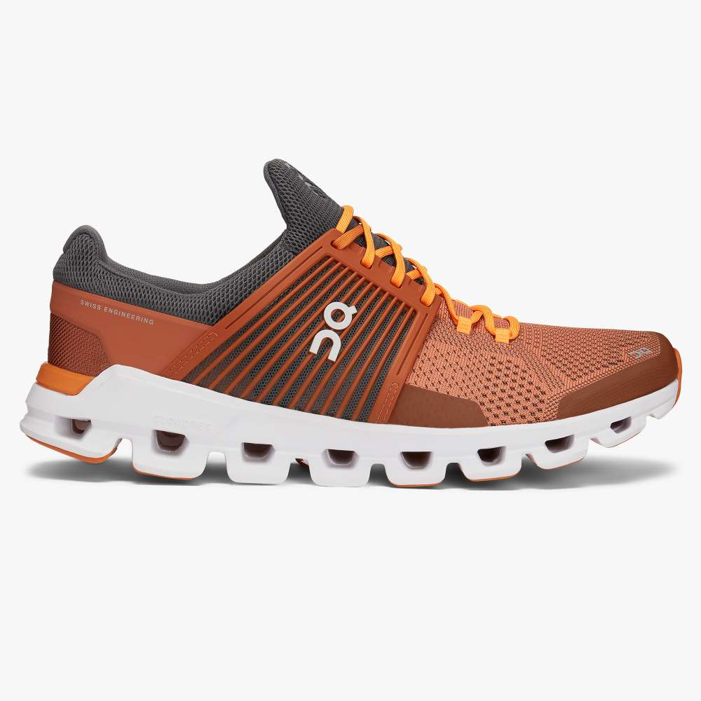On Men's Cloudswift Training Shoes - Rust/Rock
