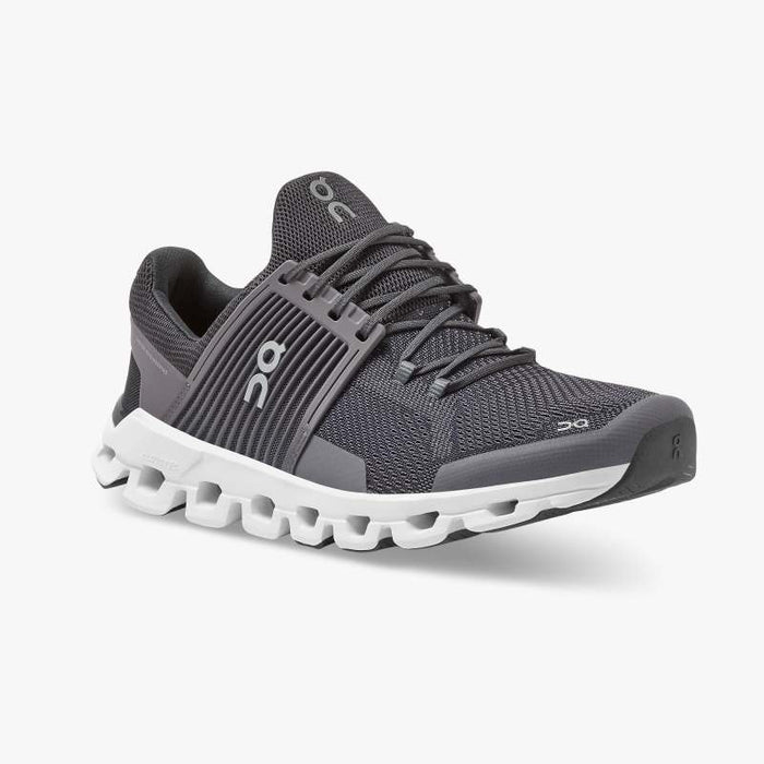 On Men's Cloudswift Running Shoes - Shark/Shadow