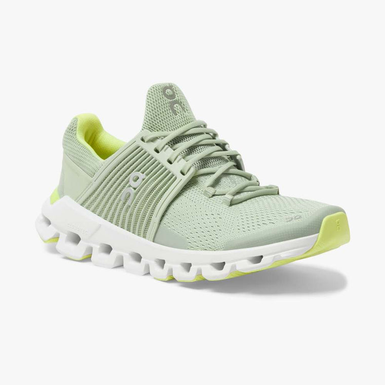 On Women's Cloudswift Running Shoes - Hay/Leaf
