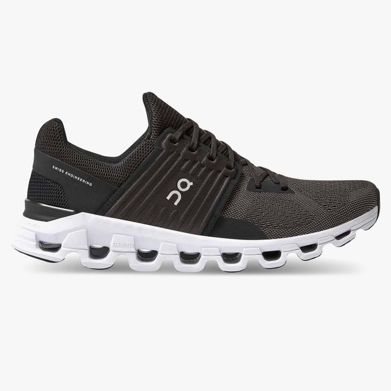 On Men's Cloudswift Running Shoes - Black/Rock (New Generation)