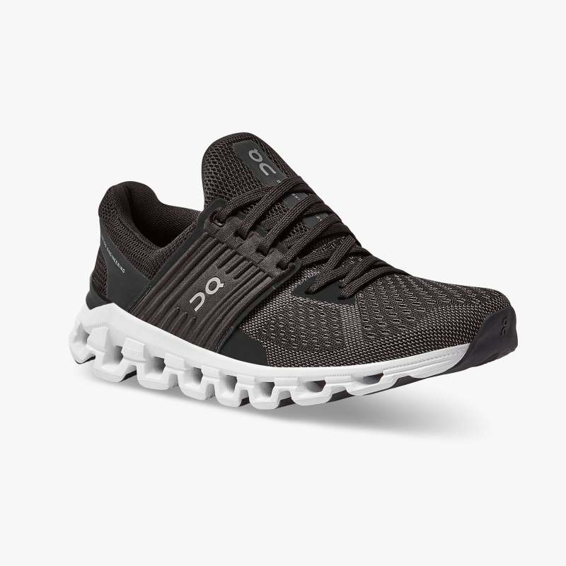 On Women's Cloudswift Running Shoes - Black/Rock (New Generation)
