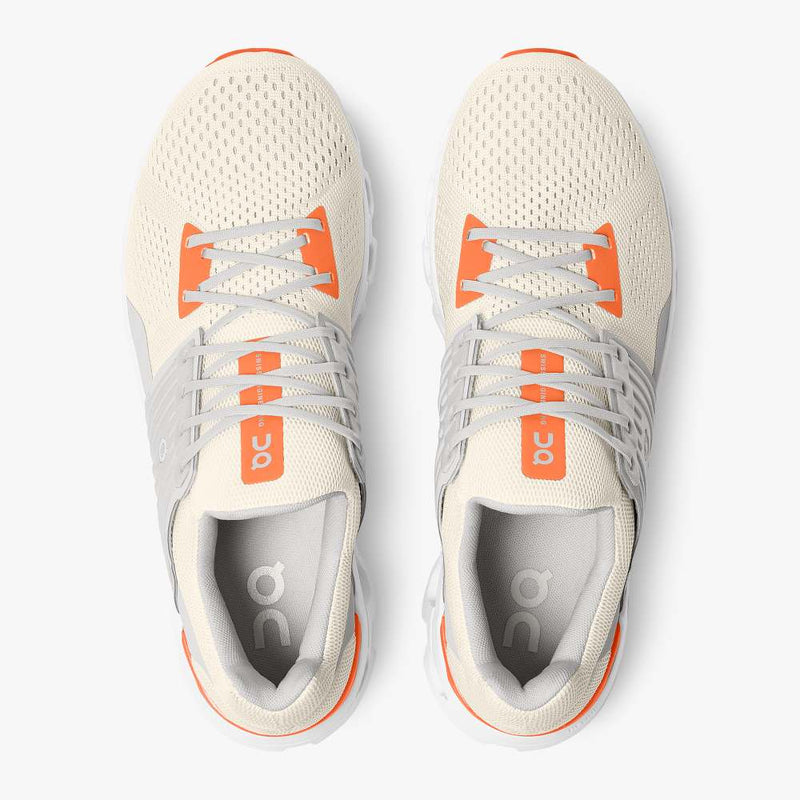 On Men's Cloudswift Running Shoes - White/Flame