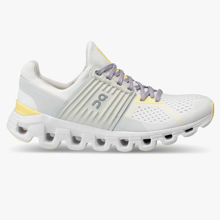 On Women's Cloudswift Running Shoes - White/Limelight