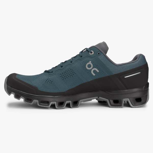 On Men's Cloudventure Trail Running Shoes - Shadow/Rock