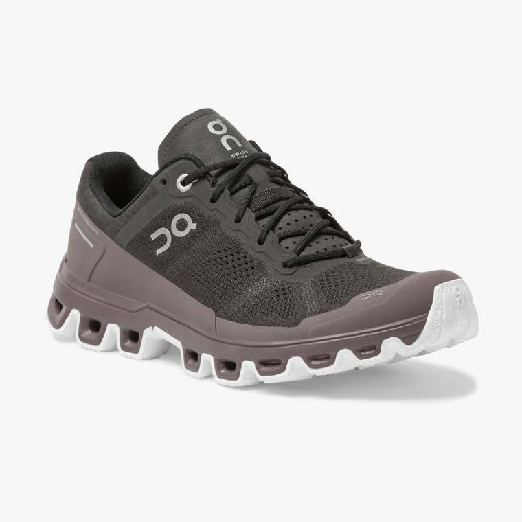 On Women's Cloudventure Trail Running Shoes - Shadow/Grape